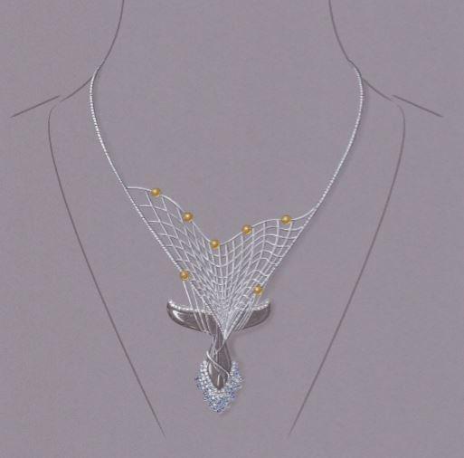 gouache, l'ombre dérivante, Christophe Lainé, Bijorhca Jewellery Award 2020