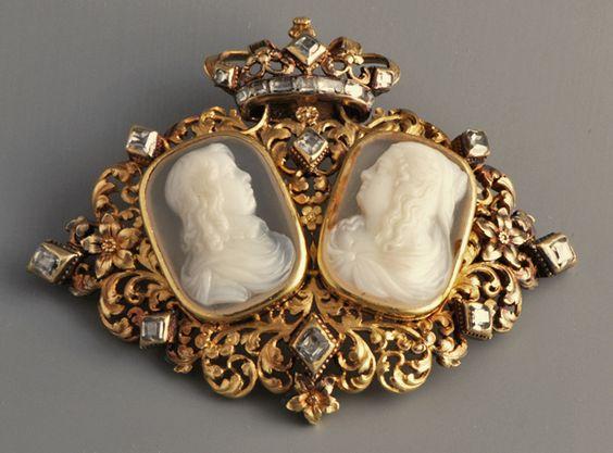 Louis XIII et Marie de Médicis, camée