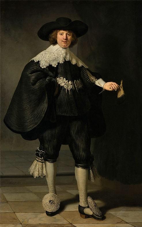rembrandt-van-rijn-XVII-portrait-de-maerten-soolmans-il était une fois le bijou