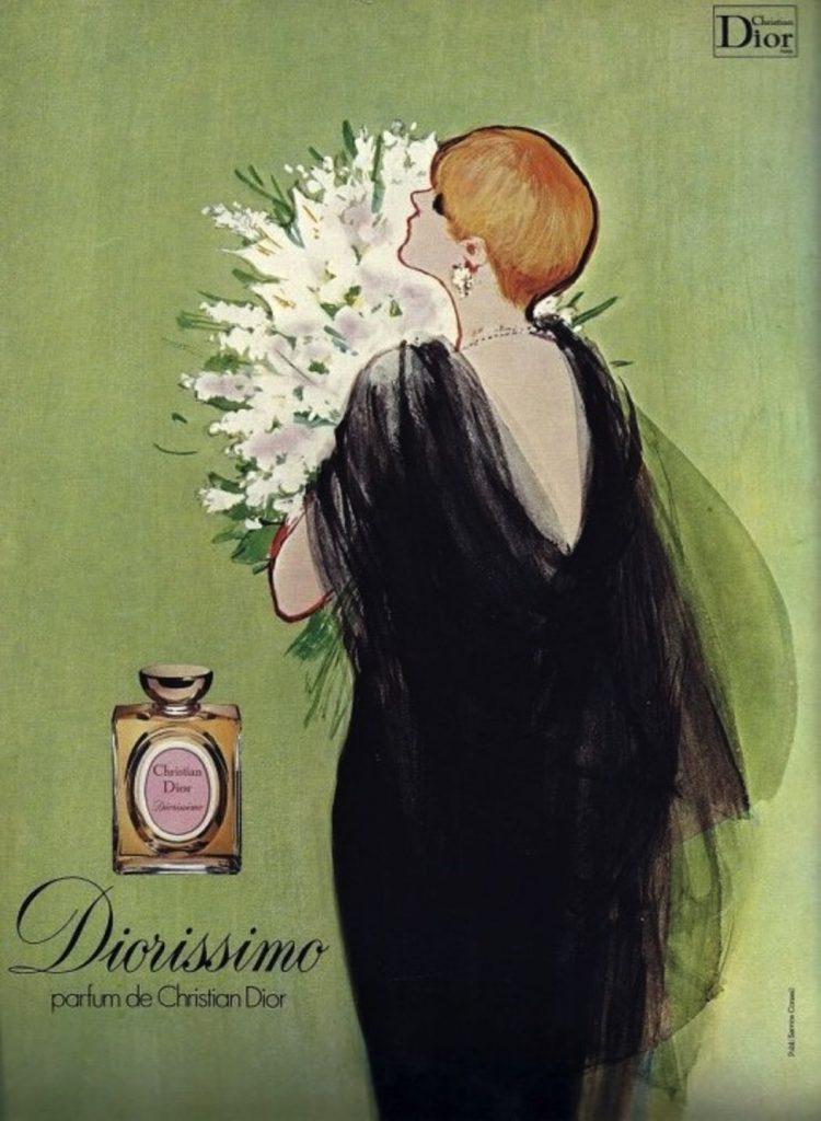 Dior affiche Diorissimo muguet