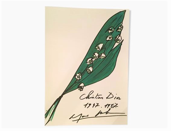 Dior illustration muguet par le styliste Marc Bohan