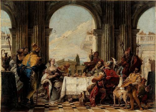 Le banquet de Cléopâtre par Tiepollo