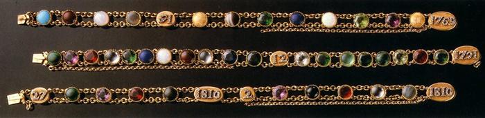 Bracelets acrostiches de Marie Louise par Chaumet