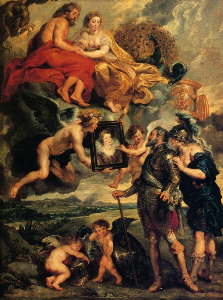 Henri IV reçoit le portrait de Marie de Médicis  par Rubens