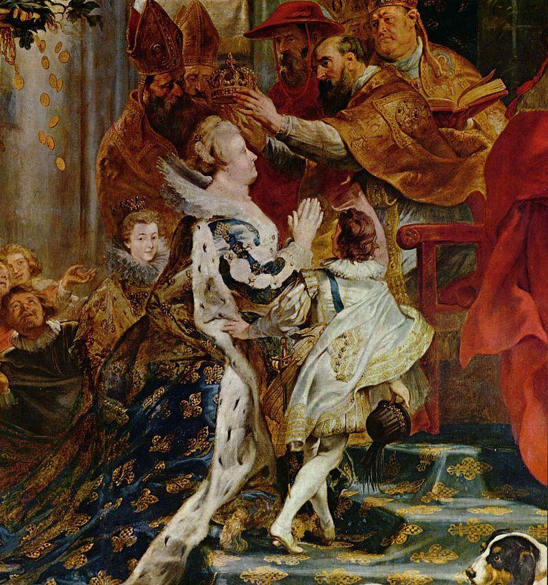 le couronnement Marie de Médicis par Rubens