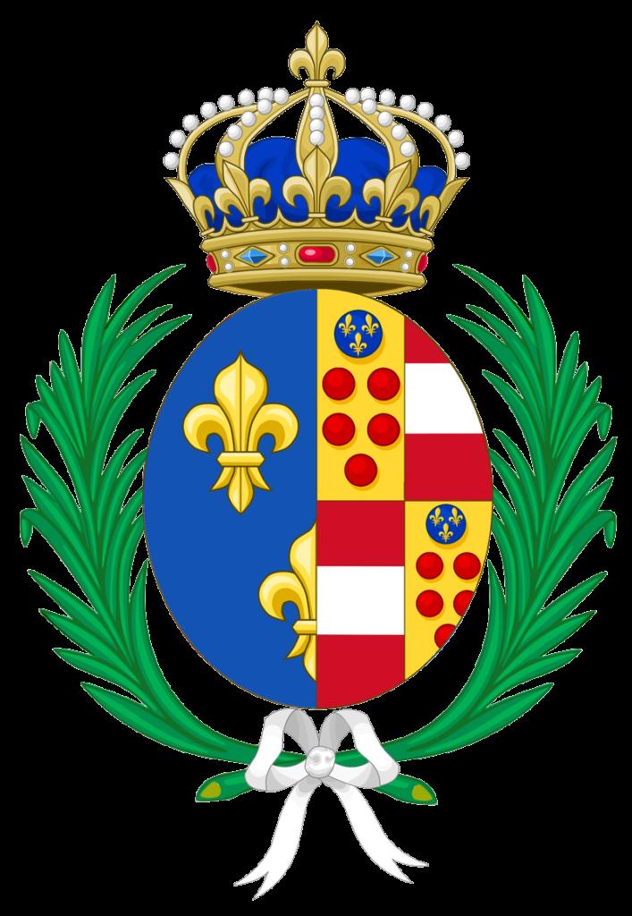 blason de Marie de Médicis aux armes de France