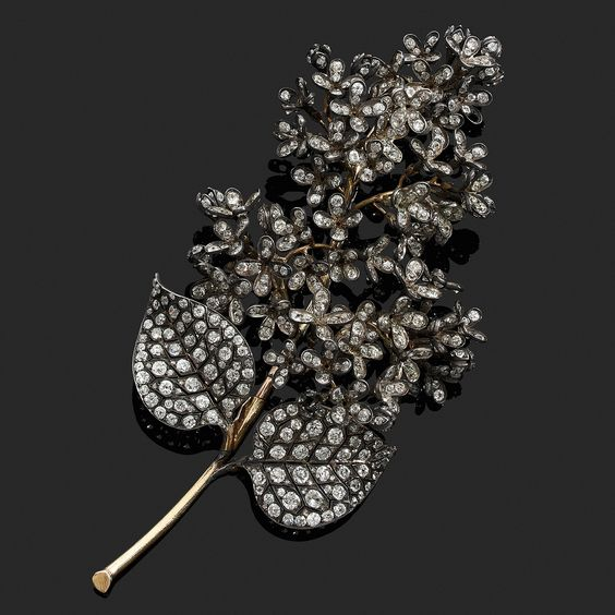 broche lilas par Boucheron 1880