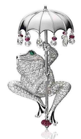 broche grenouille Cartier - collection de la Princesse Gabriele zu Leiningen