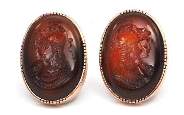 cornaline intaille cufflinks 1878