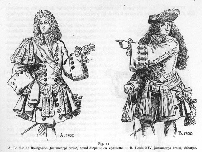 costume du Duc de Bourgogne et de Louis XIV