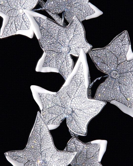 Collier détail cachalong et diamant - Lierre Givré - Boucheron