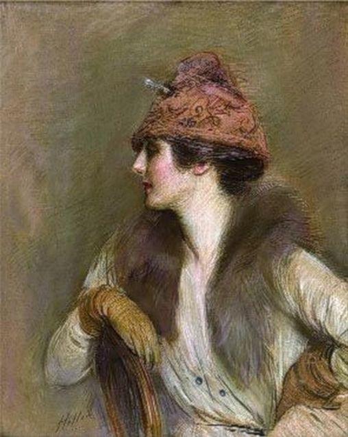 Jeanne Toussaint par César Helleu