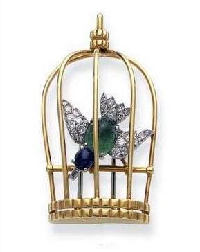 Cartier - oiseau en cage