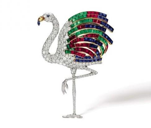 broche Flamingo Cartier