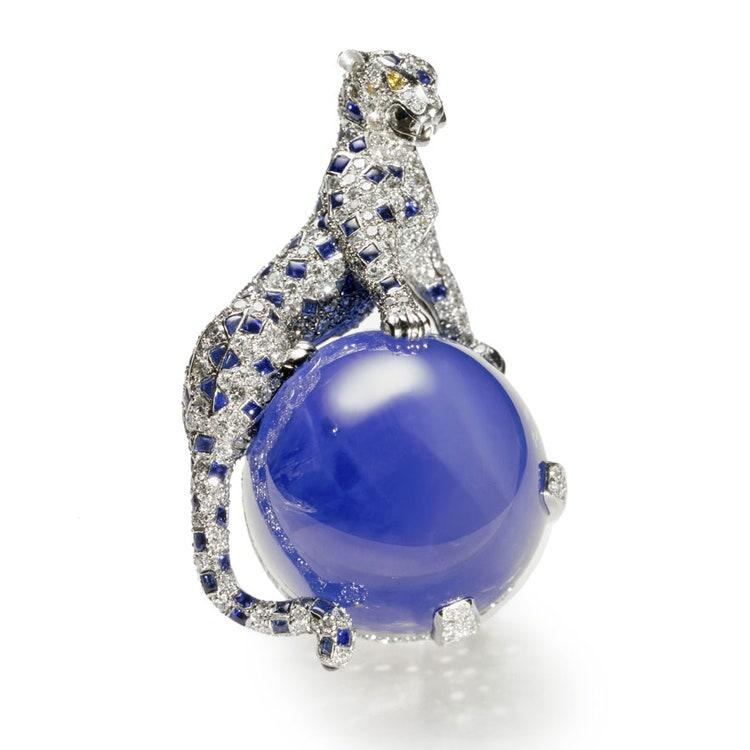 La panthère au saphir unique de 152 carats, Jeanne Toussaint, Cartier