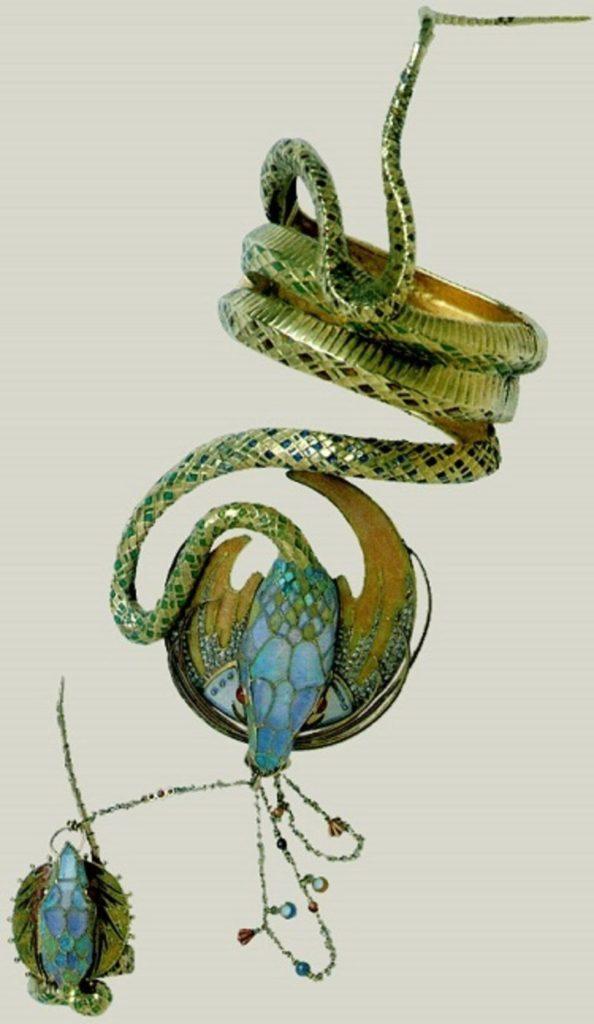 Mucha-Fouquet le bracelet serpent -1898- Sarah Bernhardt pour le rôle de Médée