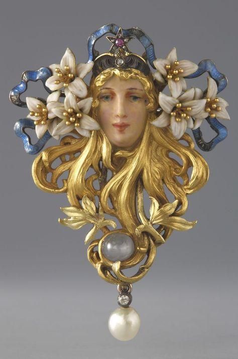 Broche Mucha - Fouquet pour Sarah Bernhardt - Mélissinde dans Princesse lointaine