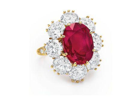 Liz Taylor bague rubis Van Cleef & Arpels