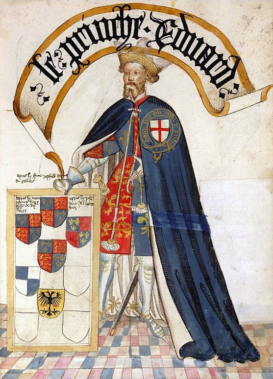 Le Prince Noir en Chevalier de la Jarretière