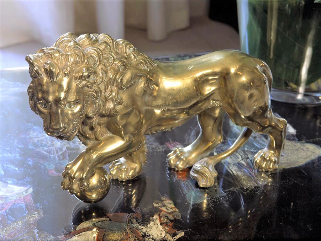 Lion dans le salon de Gabrielle Chanel au 31 rue Cambon